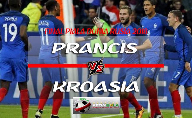 Prediksi Final Piala Dunia Prancis Vs Kroasia 15 Juli 2018