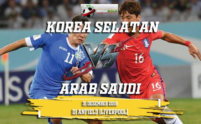 Prediksi Korea Selatan Vs Arab Saudi 31 Desember 2018
