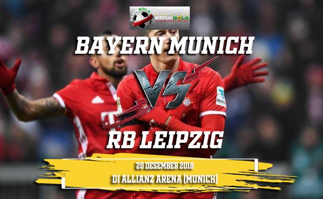 Prediksi Bayern Munich Vs RB Leipzig 20 Desember 2018