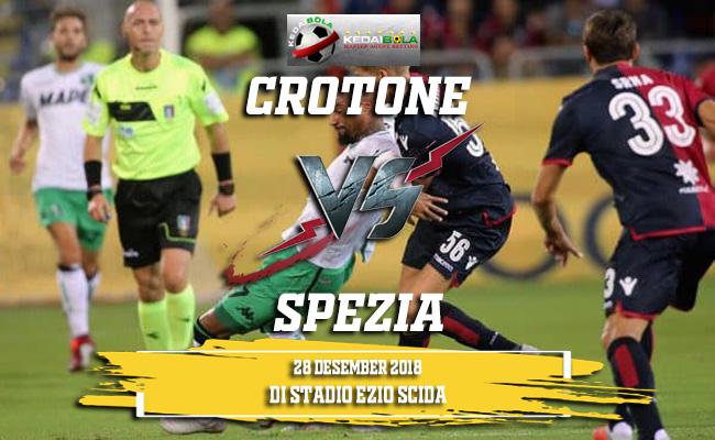 Prediksi Crotone Vs Spezia 28 Desember 2018
