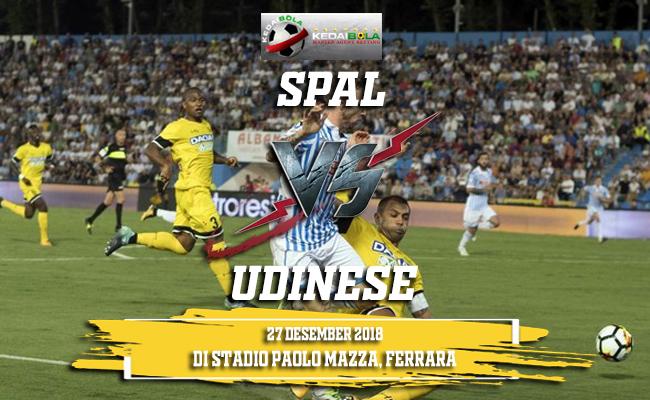 Prediksi SPAL Vs Udinese 27 Desember 2018