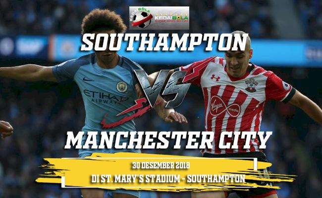 Prediksi Southampton Vs Manchester City 30 Desember 2018