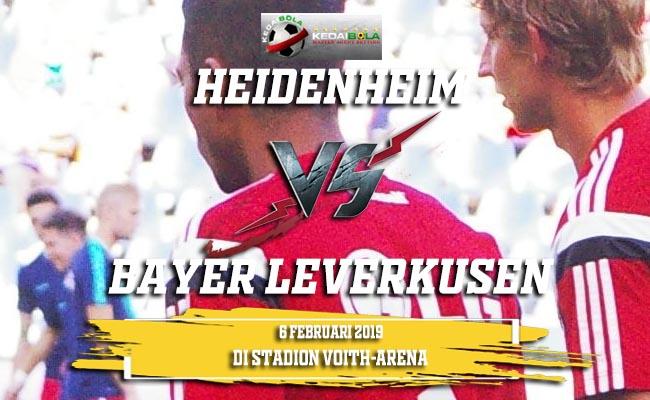 Prediksi Heidenheim vs Bayer Leverkusen 6 Februari 2019