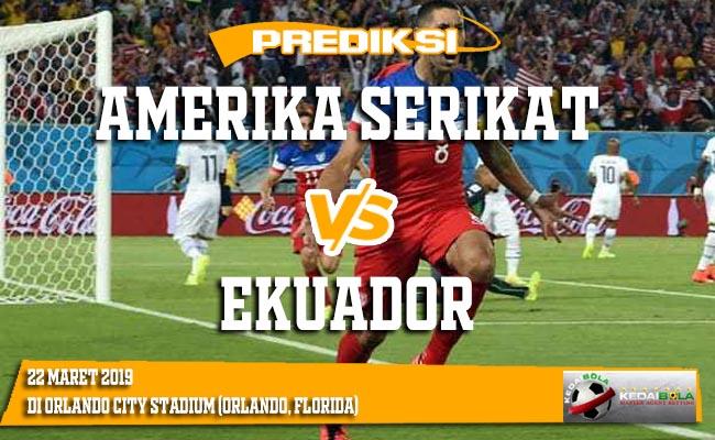 Prediksi Amerika Serikat vs Ekuador 22 Maret 2019
