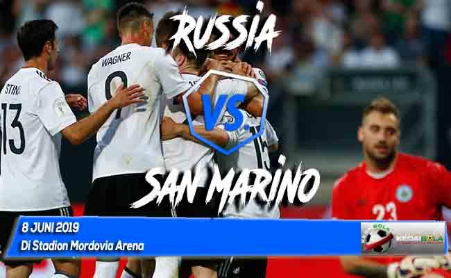 Prediksi Skor Bola Russia vs San Marino 8 Juni 2019