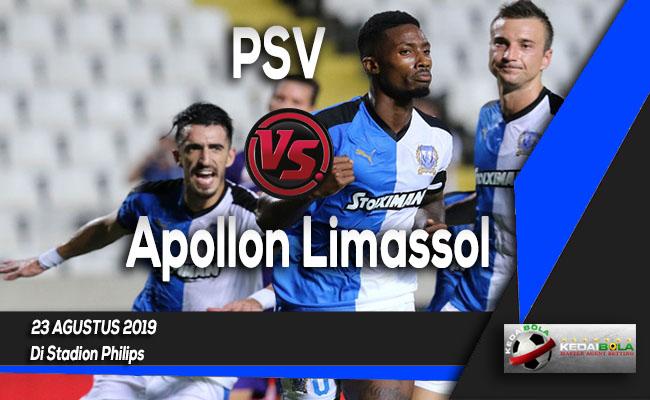 Prediksi Skor Bola PSV vs Apollon Limassol 23 Agustus 2019