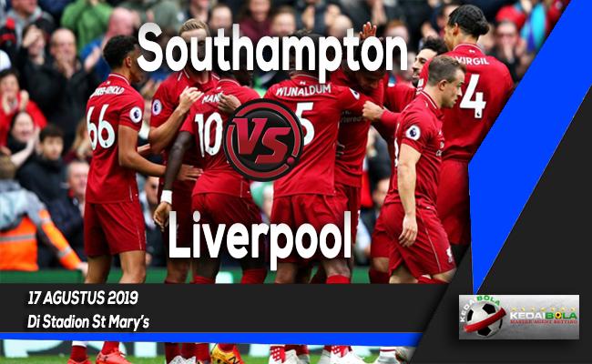 Prediksi Skor Bola Southampton vs Liverpool 17 Agustus 2019