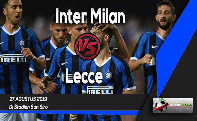 Prediksi Skor Bola Inter Milan vs Lecce 27 Agustus 2019