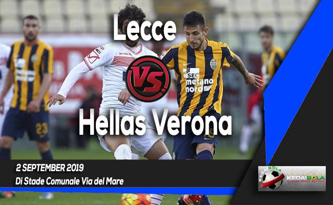 Prediksi Skor Bola Lecce vs Hellas Verona 2 September 2019
