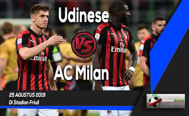 Prediksi Skor Bola Udinese vs AC Milan 25 Agustus 2019