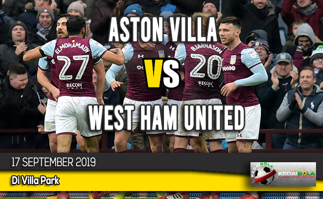 Prediksi Skor Aston Villa vs West Ham United 17 September 2019
