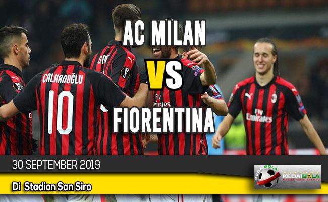 Prediksi Skor Bola AC Milan vs Fiorentina 30 September 2019