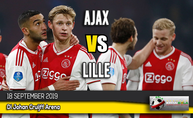 Prediksi Skor Bola Ajax vs Lille 18 September 2019