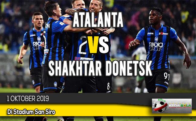 Prediksi Skor Bola Atalanta vs Shakhtar Donetsk 1 Oktober 2019