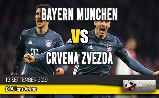 Prediksi Skor Bola Bayern Munchen vs Crvena Zvezda 19 September 2019