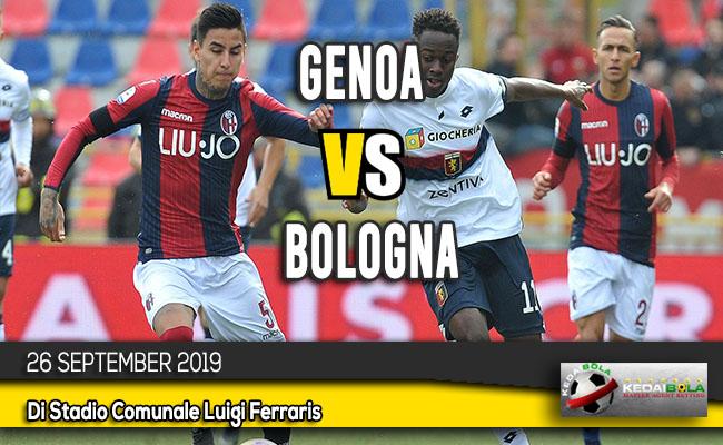 Prediksi Skor Bola Genoa vs Bologna 26 September 2019