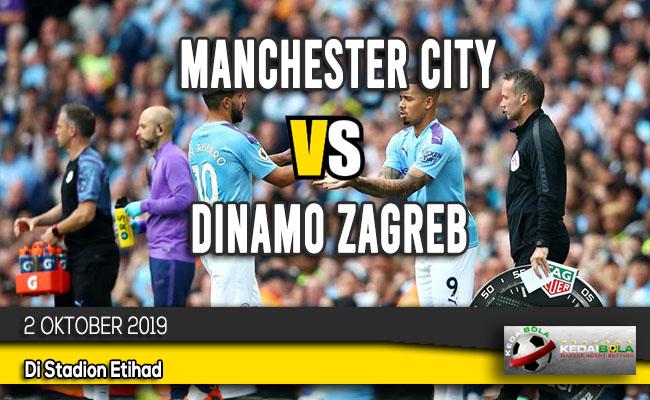 Prediksi Skor Bola Manchester City vs Dinamo Zagreb 2 Oktober 2019