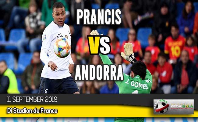 Prediksi Skor Bola Prancis vs Andorra 11 September 2019