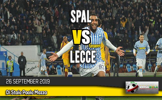 Prediksi Skor Bola SPAL vs Lecce 26 September 2019