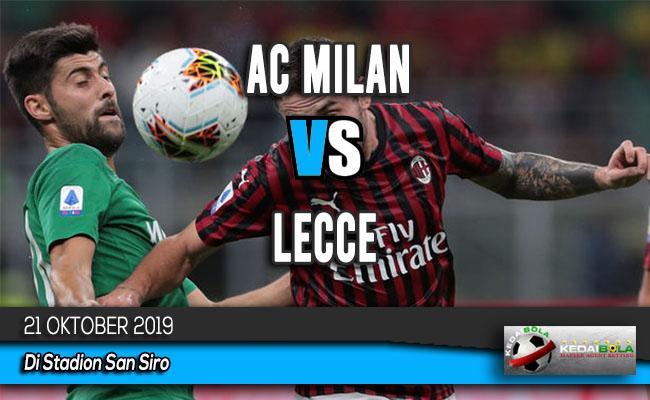 Prediksi Skor Bola AC Milan vs Lecce 21 Oktober 2019
