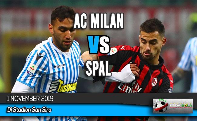 Prediksi Skor Bola AC Milan vs SPAL 1 November 2019