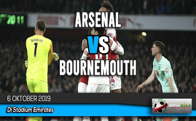 Prediksi Skor Bola Arsenal vs Bournemouth 6 Oktober 2019