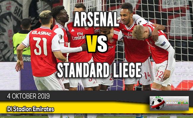 Prediksi Skor Bola Arsenal vs Standard Liege 4 Oktober 2019