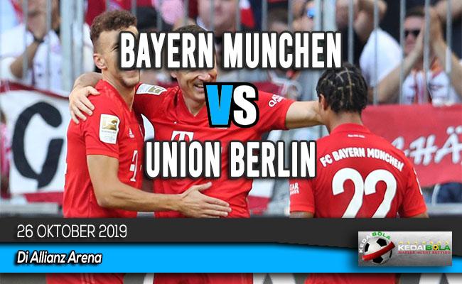 Prediksi Skor Bola Bayern Munchen vs Union Berlin 26 Oktober 2019