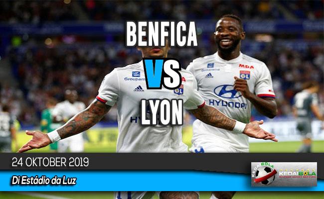 Prediksi Skor Bola Benfica vs Lyon 24 Oktober 2019