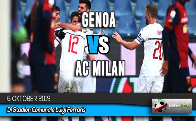 Prediksi Skor Bola Genoa vs AC Milan 6 Oktober 2019
