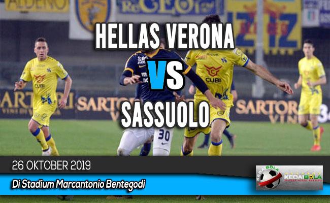 Prediksi Skor Bola Hellas Verona vs Sassuolo 26 Oktober 2019