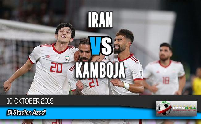 Prediksi Skor Bola Iran vs Kamboja 10 Oktober 2019