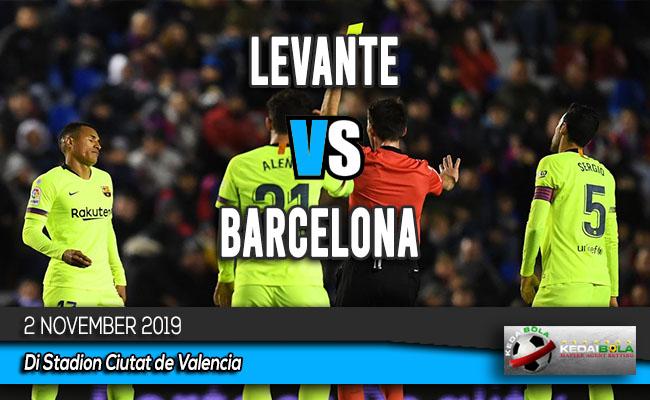 Prediksi Skor Bola Levante vs Barcelona 2 November 2019