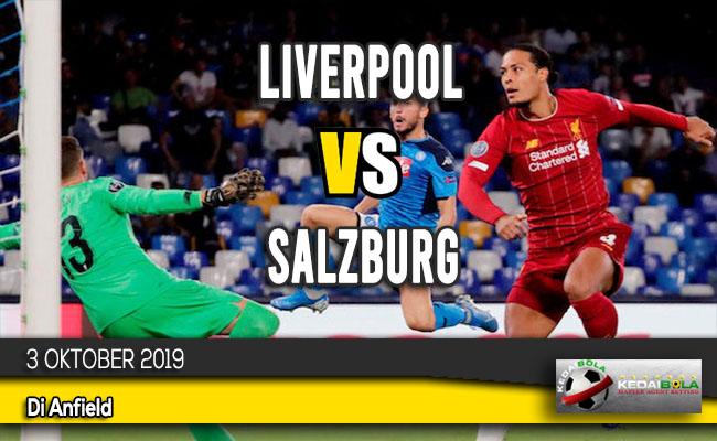 Prediksi Skor Bola Liverpool vs Salzburg 3 Oktober 2019