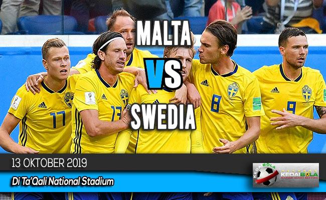 Prediksi Skor Bola Malta vs Swedia 13 Oktober 2019
