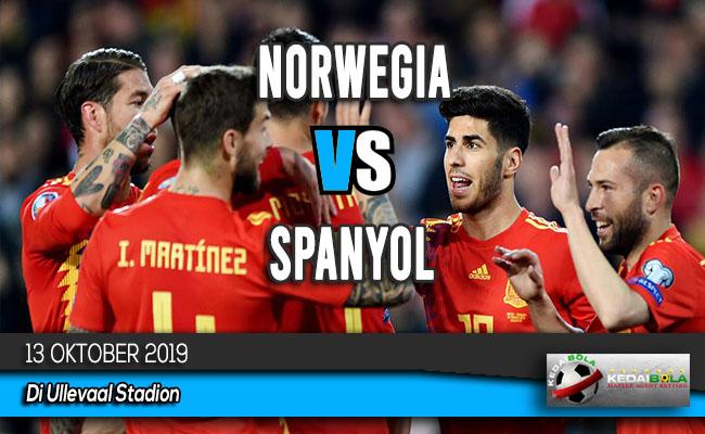 Prediksi Skor Bola Norwegia vs Spanyol 13 Oktober 2019
