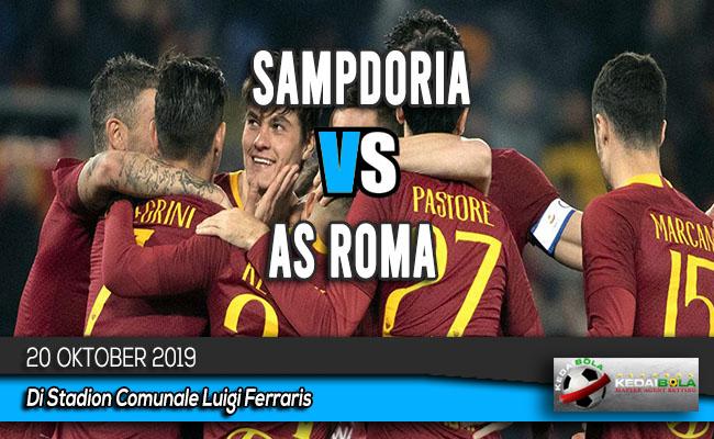 Prediksi Skor Bola Sampdoria vs AS Roma 20 Oktober 2019