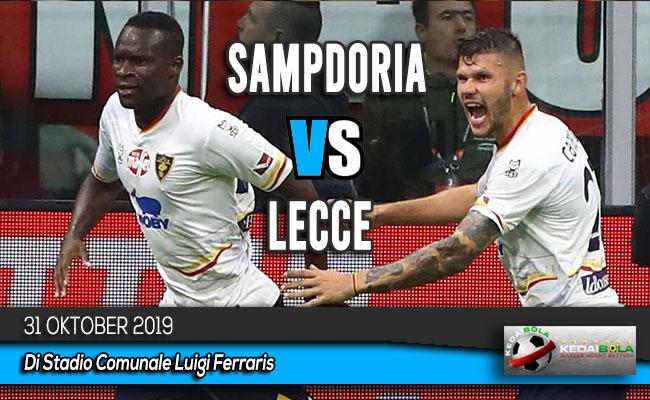 Prediksi Skor Bola Sampdoria vs Lecce 31 Oktober 2019
