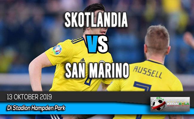 Prediksi Skor Bola Skotlandia vs San Marino 13 Oktober 2019