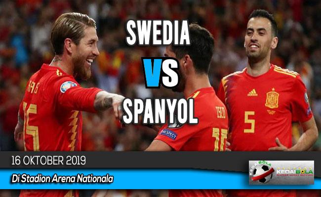 Prediksi Skor Bola Swedia vs Spanyol 16 Oktober 2019