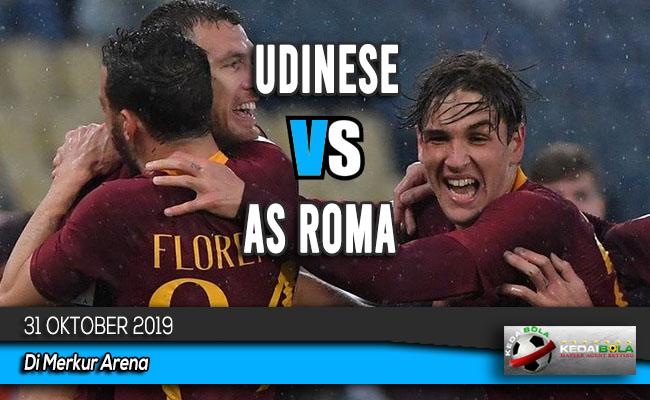 Prediksi Skor Bola Udinese vs AS Roma 31 Oktober 2019