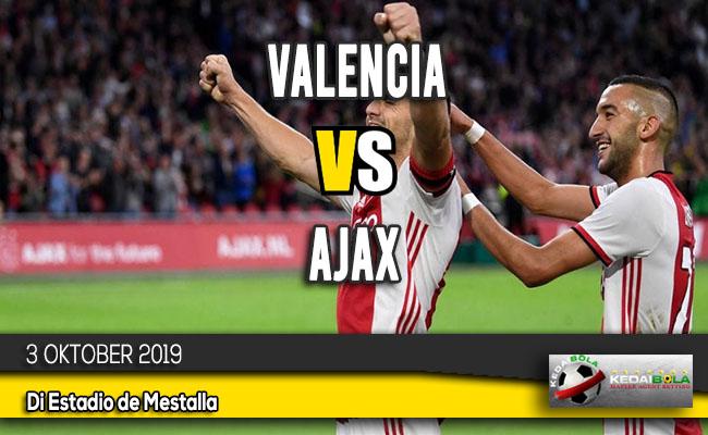 Prediksi Skor Bola Valencia vs Ajax 3 Oktober 2019