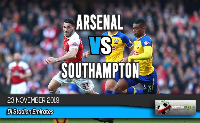 Prediksi Skor Bola Arsenal vs Southampton 23 November 2019