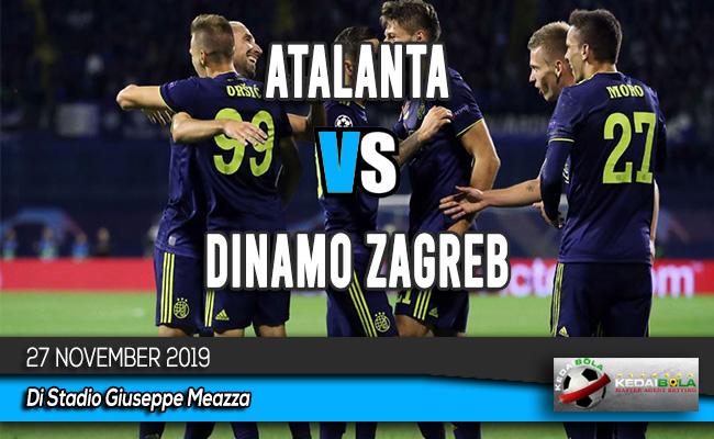 Prediksi Skor Bola Atalanta vs Dinamo Zagreb 27 November 2019