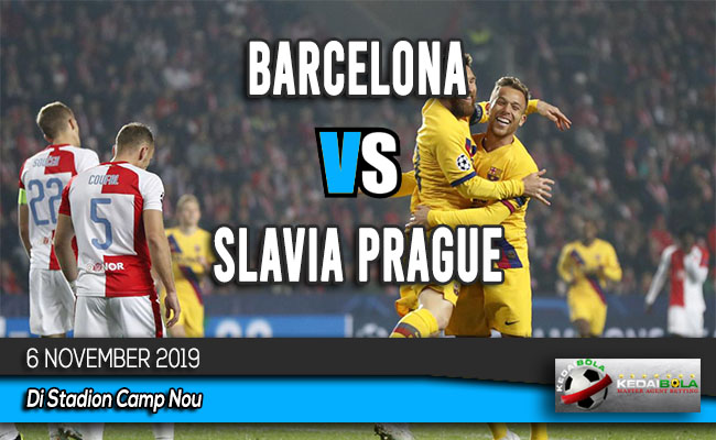 Prediksi Skor Bola Barcelona vs Slavia Prague 6 November 2019