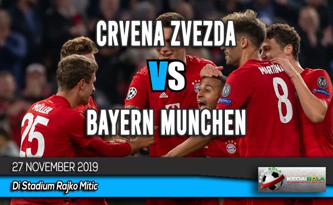 Prediksi Skor Bola Crvena Zvezda vs Bayern Munchen 27 November 2019