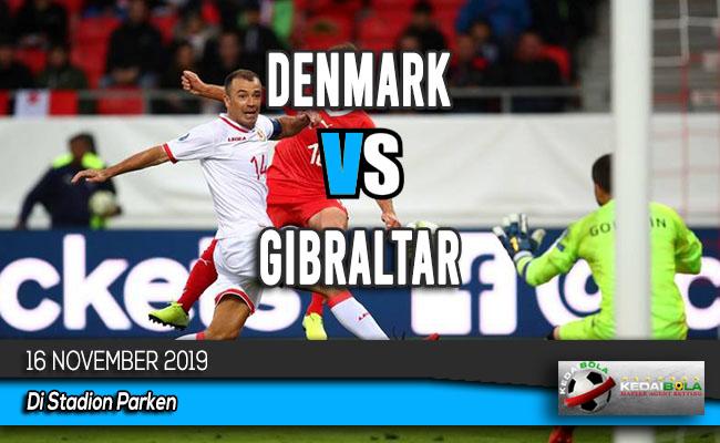 Prediksi Skor Bola Denmark vs Gibraltar 16 November 2019