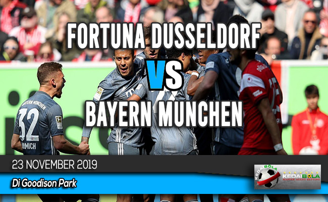 Prediksi Skor Bola Fortuna Dusseldorf vs Bayern Munchen 23 November 2019