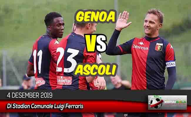 Prediksi Skor Bola Genoa vs Ascoli 4 Desember 2019