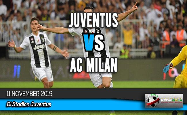 Prediksi Skor Bola Juventus vs AC Milan 11 November 2019
